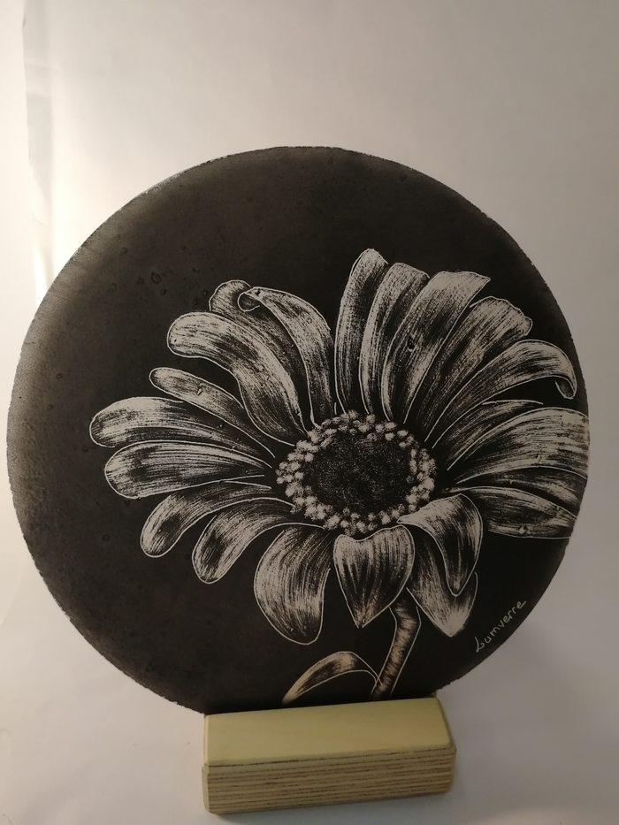 déco-fleur sur socle